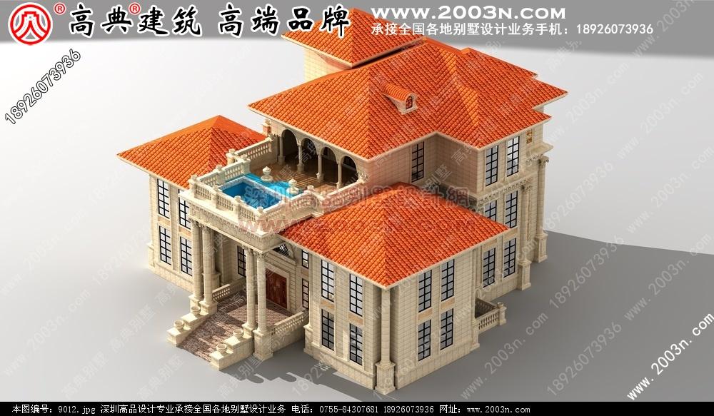 深圳建筑设计公司乡村别墅外观效果图10张 别墅图片大全