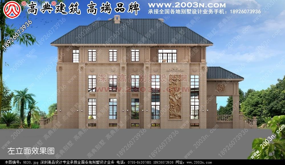 三层小别墅效果图外墙干挂石材欧式别墅 -品图网 别墅设计图 别墅图片